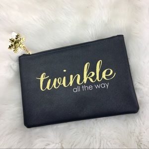 Twinkle All The Way Snowflakes Cosmetic Zipper Bag